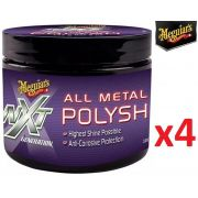 Kit c/ 04 Polidor Metais Nxt All Metal Polysh Meguiars 142g G13005