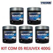 Kit C/ 05 Revitalizador De Plasticos Rejuvex 400g Vonixx