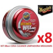 Kit C/ 08 Cera Meguiars Cleaner Wax Pasta Limpadora A1214