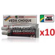 Kit C/ 10 Veda Choque Maxi Rubber Parachoque Solda 150g