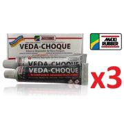 Kit C/ 3 Veda Choque Maxi Rubber Parachoque Solda 150g