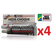 Kit C/ 4 Veda Choque Maxi Rubber Parachoque Solda 150g
