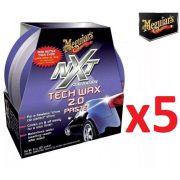 Kit c/ 5 Cera Nxt Tech Wax 2.0 Meguiars Pasta Roxa G12711