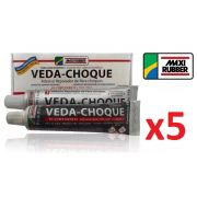 Kit C/ 5 Veda Choque Maxi Rubber Parachoque Solda 150g
