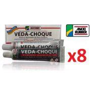 Kit C/ 8 Veda Choque Maxi Rubber Parachoque Solda 150g