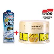 Kit Cera Fusso Coat Light brancos Soft99 + Shampoo Creamy