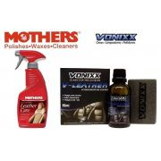 Limpa E Hidrata Couro Leather Care All In One 355ml Mothers + V-LEATHER 50ML VONIXX