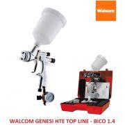 Pistola Walcom Genesi Hte 1.4  Top Line Profissional Italiana c/ manômetro