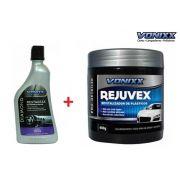 Restaurax Restaurador De Plásticos 500ml Vonixx Diamond + Revitalizador De Plasticos Rejuvex 400g Vonixx Restaurador