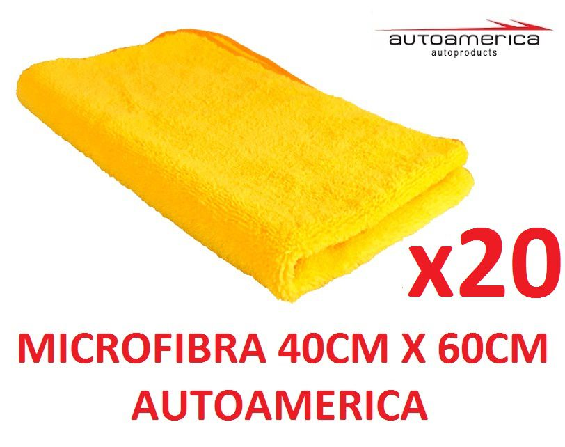 20 un Flanela Toalha Microfibra 40 X 60 Cm Autoamerica (sem embalagem / blister)