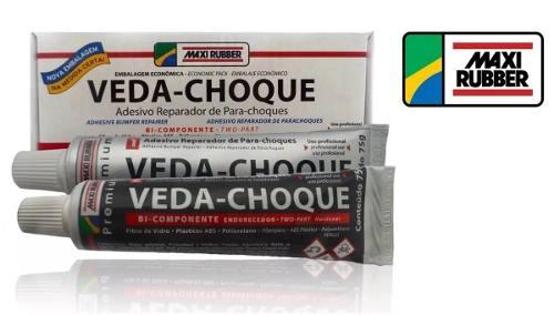 Veda Choque Maxi Rubber Cola Parachoque Solda Plástica 150g