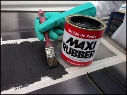 2 Batida De Pedra Branco 3,6l Tinta Emborracha Maxi Rubber + 1 Batida De Pedra Preto 3,6l Tinta Emborrachamento Maxi Rubber