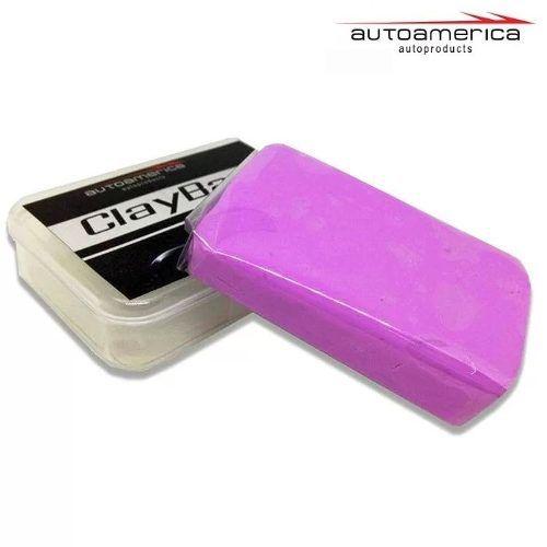 2 Cera Carnaúba Triple Paste Wax Autoamerica 300g Cristaliz + Clay bar Autoamerica 100g