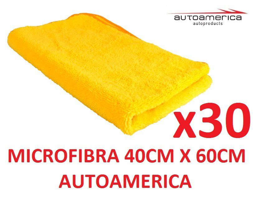 30 un Flanela Toalha Microfibra 40 X 60 Cm Autoamerica (sem embalagem / blister)