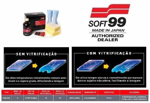 Vitrificador Pinturas H7 Coating Glass Coat 100ml Soft99 7H