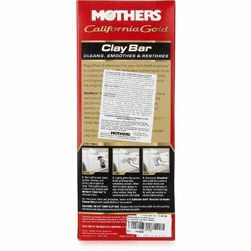 Kit Clay Bar California Gold Clay Bar System Mothers