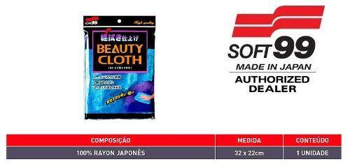Toalha Beauty Cloth Pele De Raposa 32x22cm Azul Soft99 Microfibra