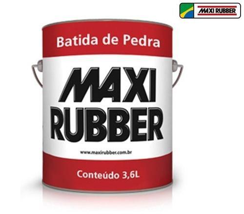Batida De Pedra Branco 3,6l Tinta Emborrachament Maxi Rubber