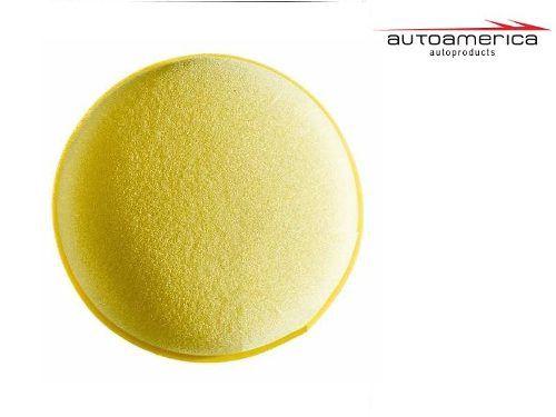 Espuma Amarela Aplicador Cera C/ 01 Unidade Autoamerica S/e