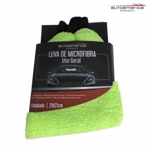 Autoamerica Luva Microfibra Lisa Uso Geral Lavagem 21 X 27