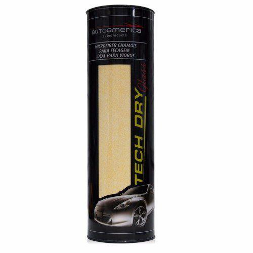 Flanela Tech Dry Glass Autoamerica 70x40 Secagem De Vidros