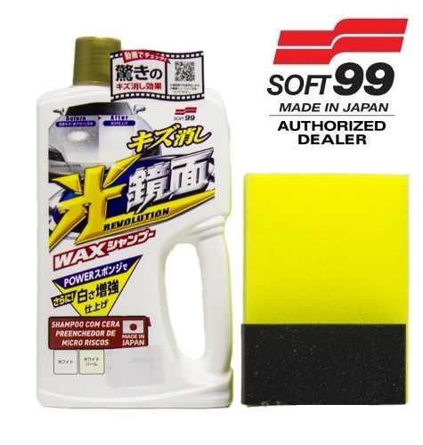 Shampoo White Gloss Preenchedor Micro Riscos Soft99 Branco