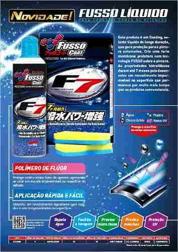 Selante De Longa Duração Fusso Coat F7 300ml Soft99 Líquido+