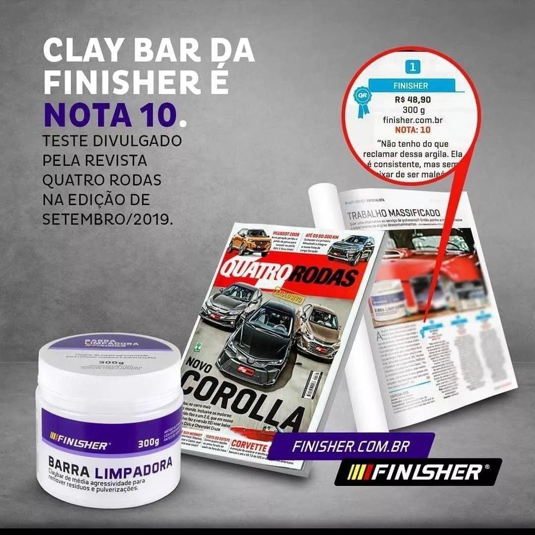 Barra Limpadora Clay Bar 80g descontaminação Finisher abrasiva