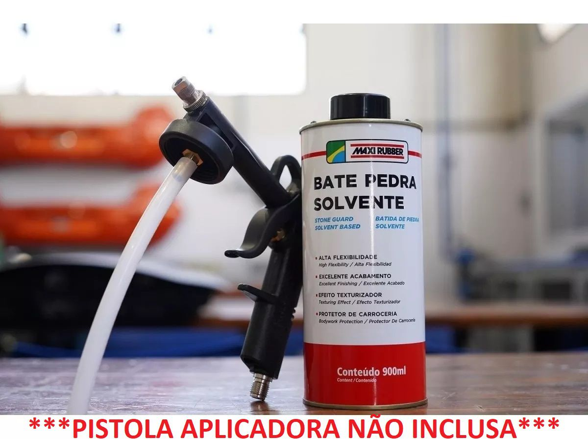 Batida de Pedra Solvente PRETO 900ml Maxi Rubber Alta Flexibilidade 4ma047