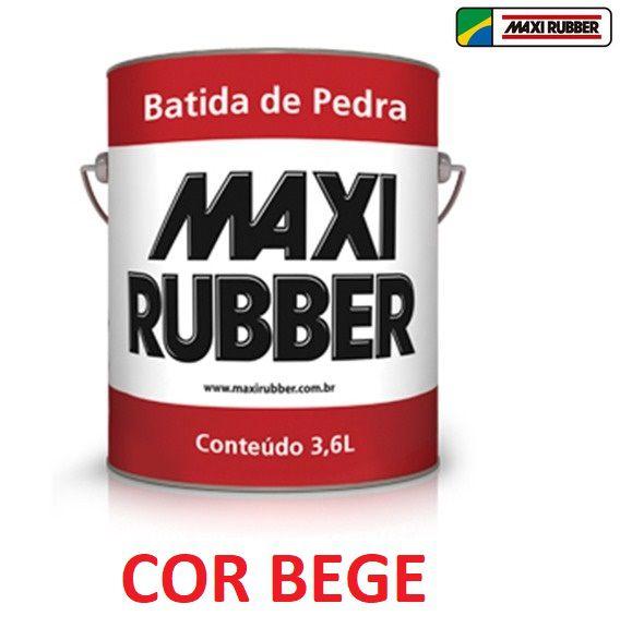 Batida De Pedra Bege 3,6l Tinta Emborrachament Maxi Rubber 4ma039