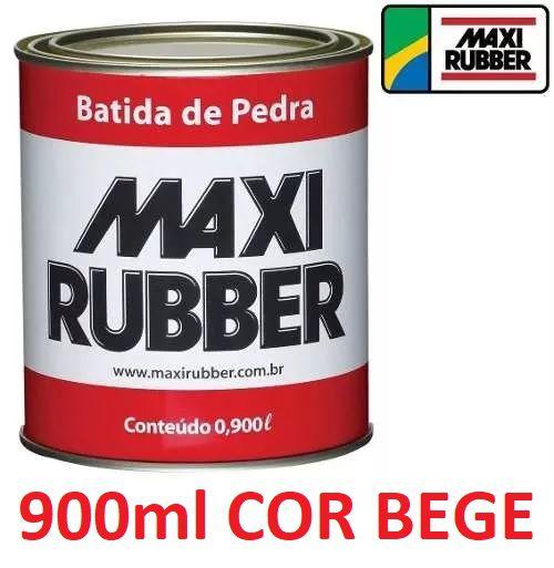 Batida De Pedra Bege 900ml Tinta Emborrachament Maxi Rubber 4ma036