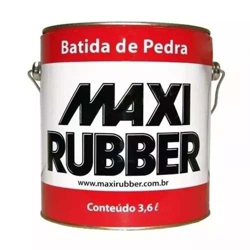 Batida De Pedra Branco 3,6l Tinta Emborrachament Maxi Rubber + Batida De Pedra Preto 3,6l Tinta Emborrachamento Maxi Rubber