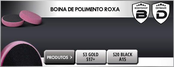 BOINA DE ESPUMA CORTE E REFINO ROXA 6,5 165mm PREMIUM SCHOLL CONCEPTS POLÍMERO