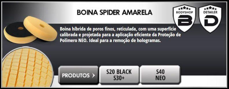 """Boina Espuma Spider Amarela 165mm 6,5"""" Verniz Asiático Scholl Concepts"""