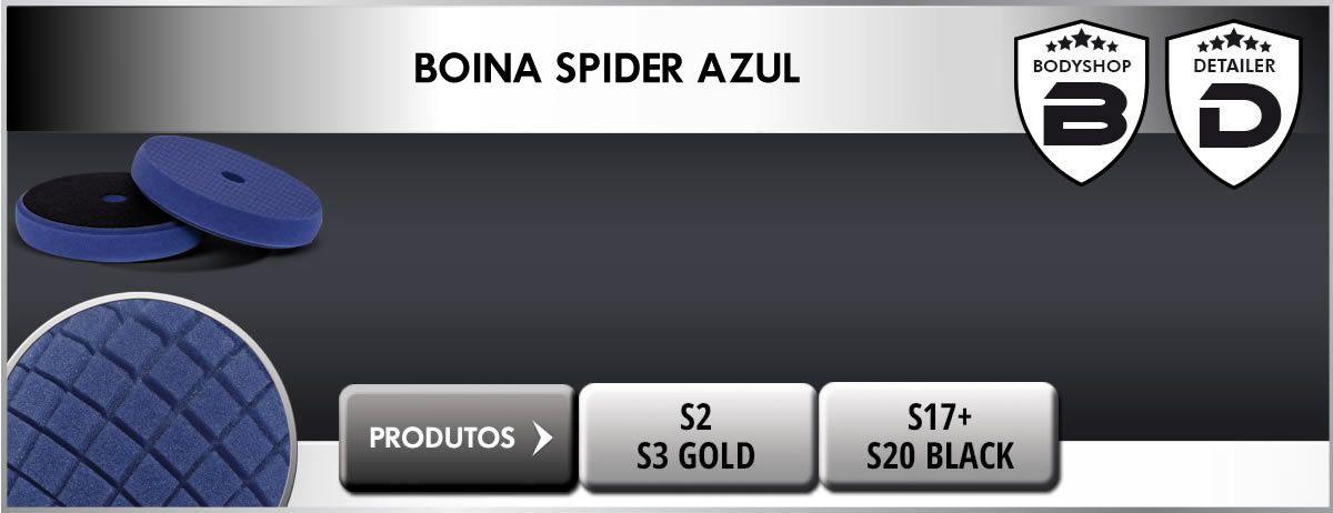 "Boina Espuma Universal Spider Azul 90mm 3,5"" Corte Scholl Concepts"