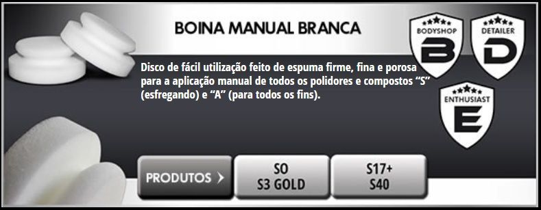 "Boina Manual Branca 140mm 5,5"" Scholl Concepts"