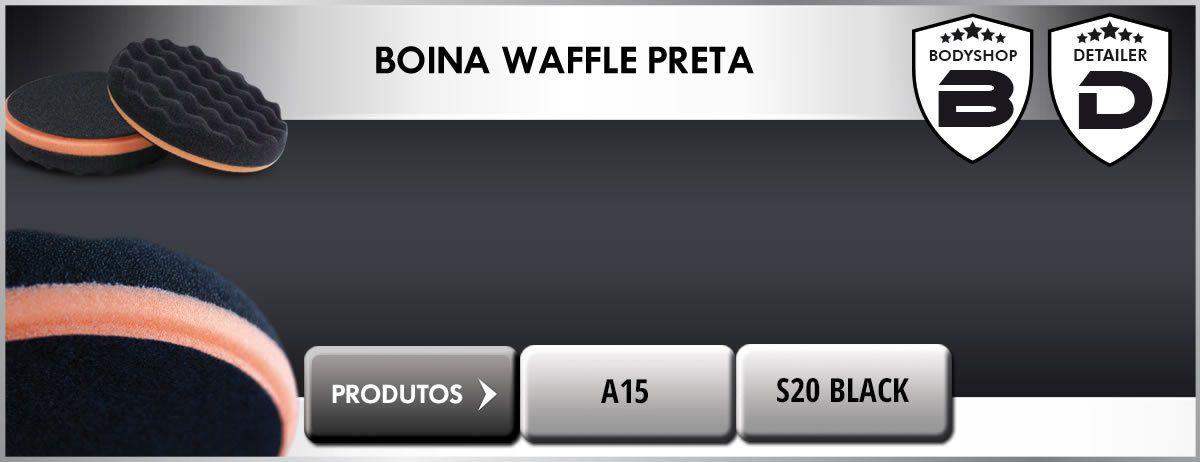 Boina Waffle Premium Preta 90mm Macia Lustro 3,5 Scholl Concepts