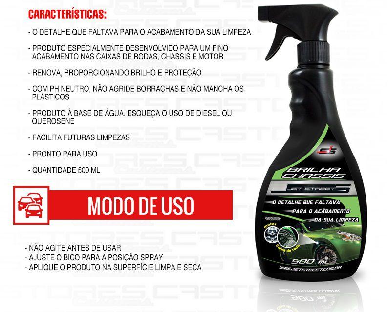 Brilha Chassis E Caixas De Rodas 500ml Spray Jet Street