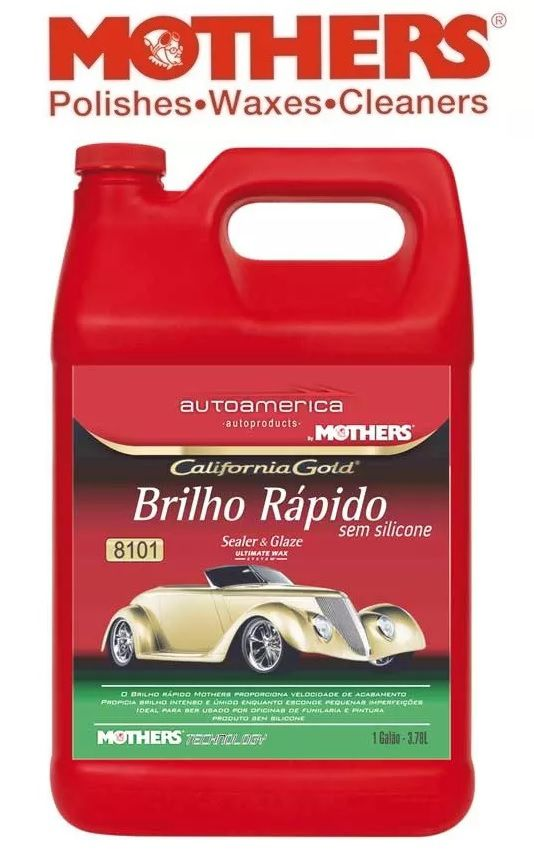 Brilho Rápido sem silicone Mothers Ultimate Wax System 3,78L