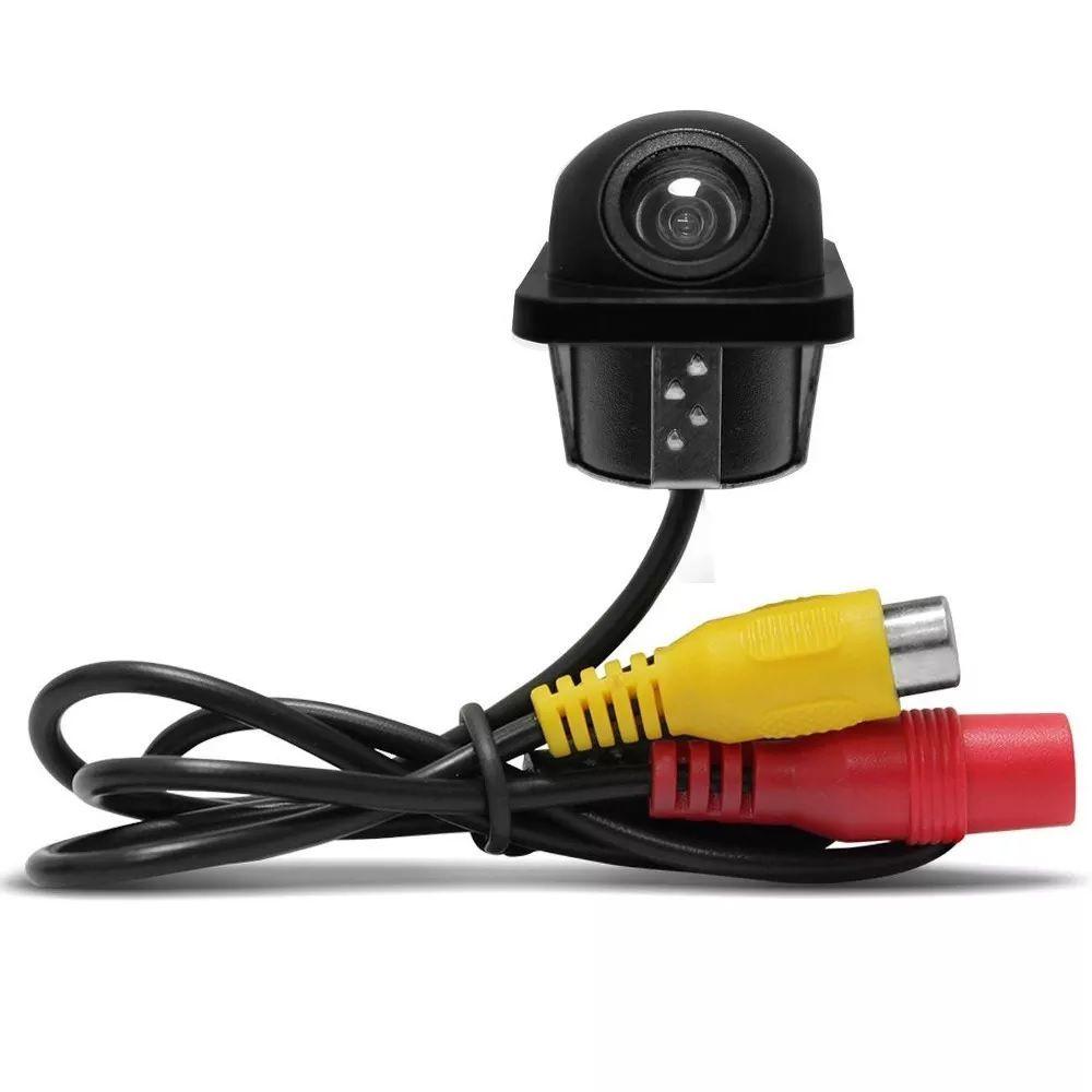 Câmera de Ré Colorida Tartaruga Universal Preta Entrada RCA