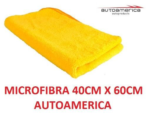 Cera Carnaúba Triple Wax Autoamerica 300g + 3 Flanela Toalha Microfibra 40 X 60 Cm Autoamerica