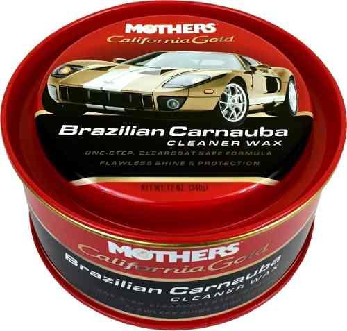 Cera Cleaner Wax Pasta Brazilian Carnauba Mothers 340gr + microfibra 40x60 cm Autoamerica