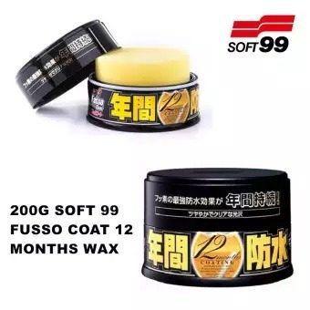 Cera Fusso Coat Black Escuros Preto Dark 1 Ano Soft99 + 01 Flanela Toalha Microfibra 40 X 60 Cm Autoamerica (sem embalagem / blister)