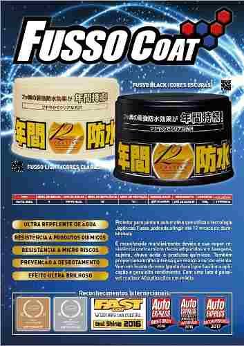 Cera Fusso Coat Black Escuros Preto Dark 1 Ano Soft99 + 04 Flanela Toalha Microfibra 40 X 60 Cm Autoamerica (sem embalagem / blister)