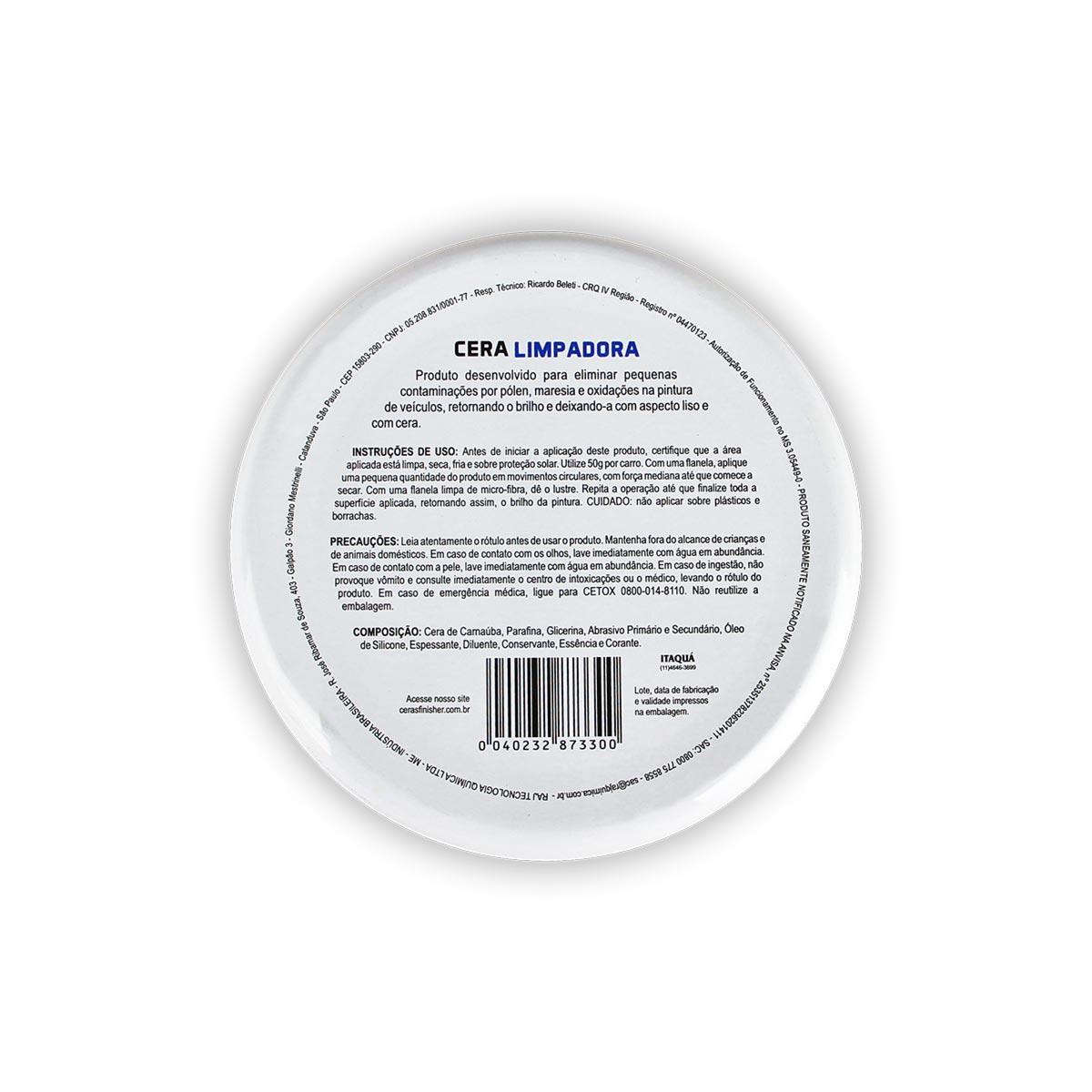 Cera Limpadora Automotiva Finisher 200g Cleaner wax limpa