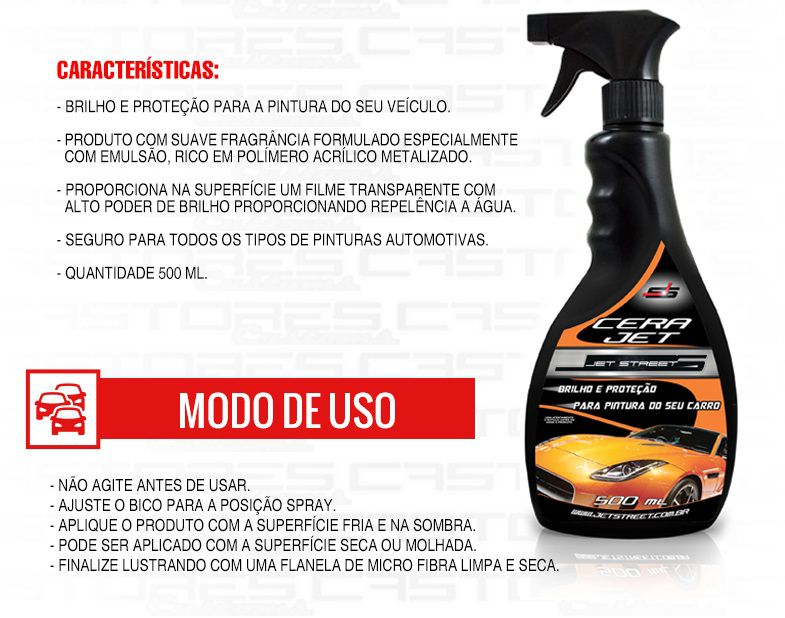 Cera Líquida Spray 500ml Jet Cera Jet Street