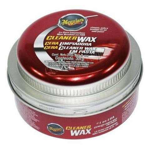 Cera Meguiars Cleaner Wax Pasta Limpadora A1214 + 05 Flanela Toalha Microfibra 40 X 60 Cm Autoamerica (sem embalagem / blister)