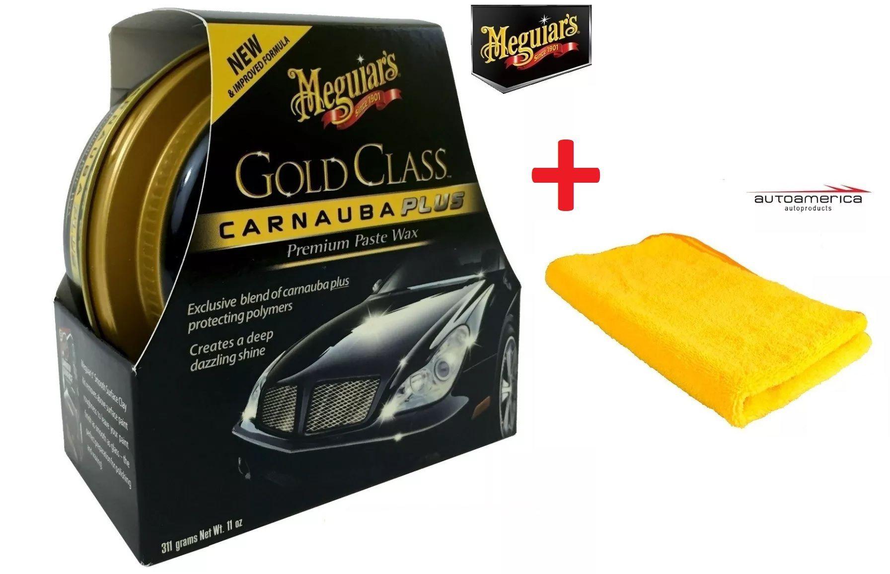 Cera Meguiars Gold Class Pasta Wax G7014 + 1 Flanela Toalha Microfibra 40 X 60 Cm Autoamerica