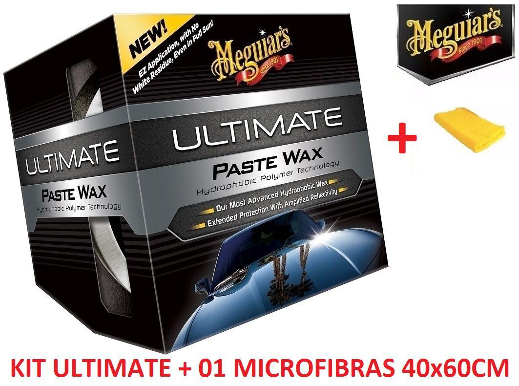 Cera Meguiars Ultimate Wax Pasta G18211 + 01 Microfibra 40x60CM Autoamerica