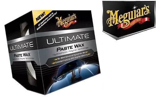 Cera Meguiars Ultimate Wax Pasta G18211 + Limpador Hidratante Couro Spray Rich 450ml Meguiars G10916 + Flanela Toalha Microfibra 40 X 60 Cm Autoamerica (sem embalagem / blister)